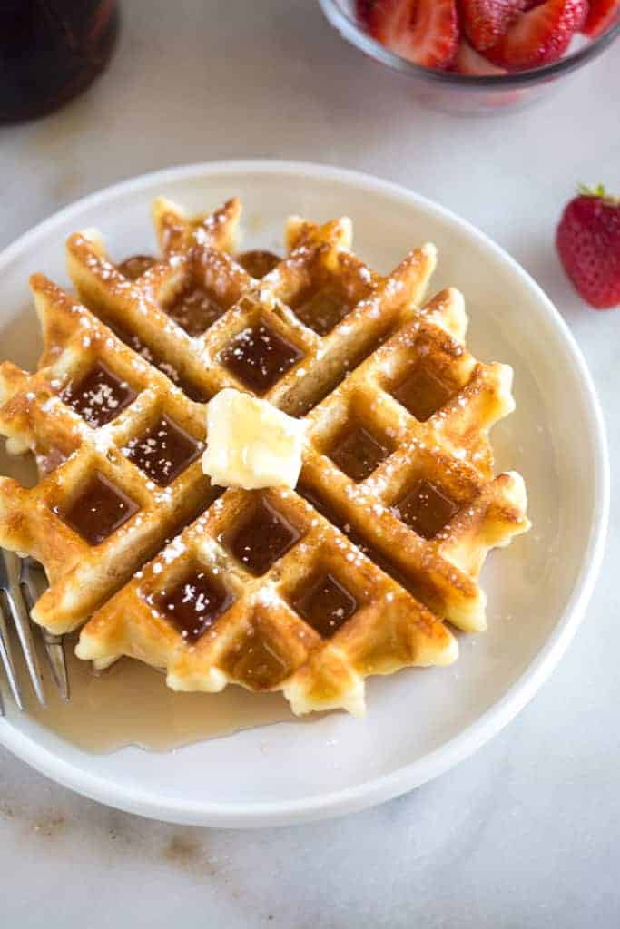 BEST and Easiest Belgian Waffles Recipe