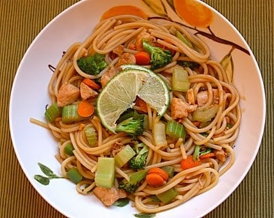 Noodles in Thai Peanut Sauce