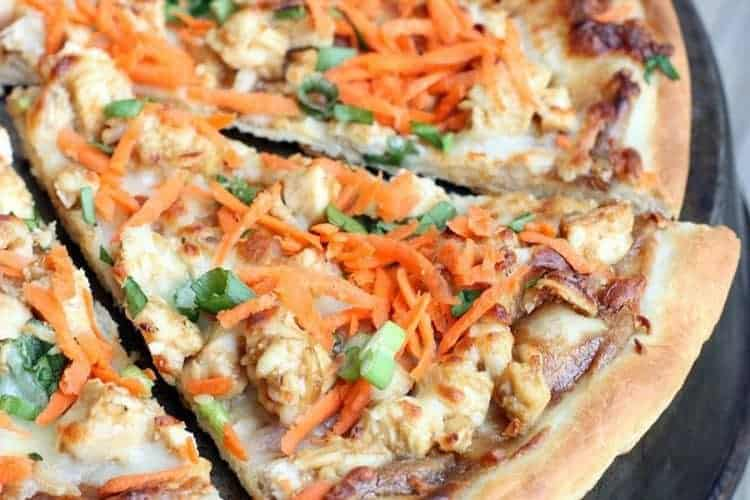 Thai Chicken Pizza on TastesBetterFromScratch.com