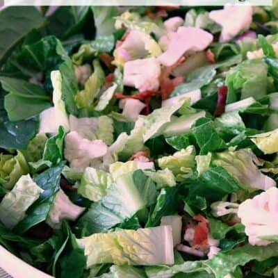 Cauliflower and Bacon Salad with Sweet Lemon Basil Dressing