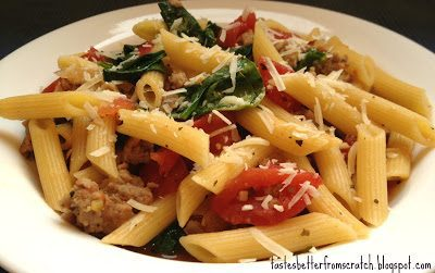 Italian Sausage and Spinach Penne