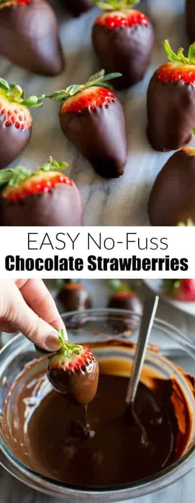 A step by step guide for how to make EASYChocolate Covered Strawberries,including ideas for toppings and a guide for making a DIY strawberry bouquet.  #tastesbetterfromscratch #easy #recipe #chocolatecoveredstrawberries #strawberrybouquet #howtomake #valentinesday #dessert