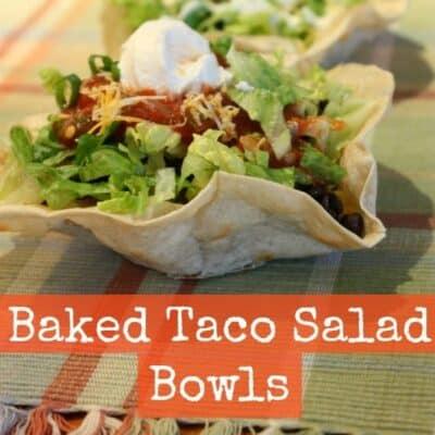 Baked Taco Salad Bowls