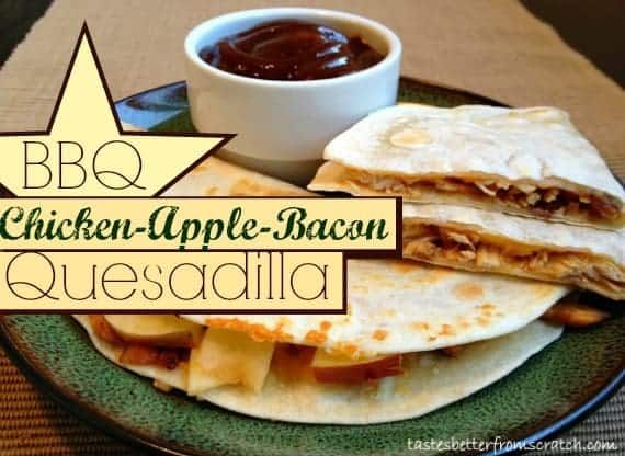 BBQ Chicken-Apple-Bacon Quesadilla