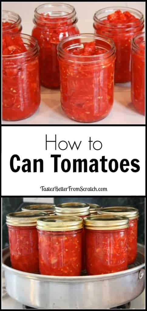 How to Can Tomatoes--tutorial from TastesBetterFromScratch.com