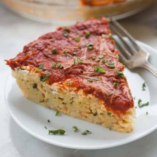 Spaghetti Pie | tastesbetterfromscratch.com
