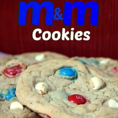 Red, White, and Blue M&M Cookies