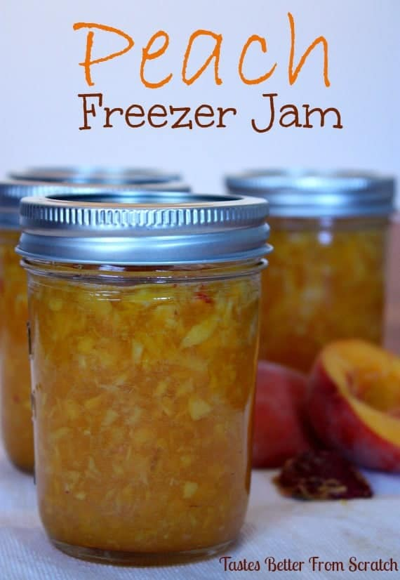 Because it's peach season AND because our Raspberry Freezer Jam ...
