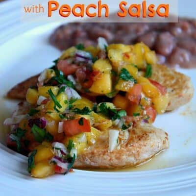 Southwestern Grilled Chicken with Peach Salsa