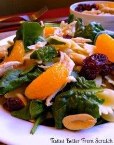 Chicken Spinach Bowtie Salad