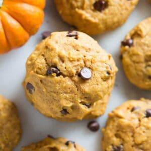 Pumpkin Chocolate Chip Cookies | tastesbetterfromscratch.com