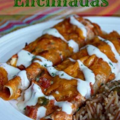 Salsa-Ranch Chicken Enchiladas