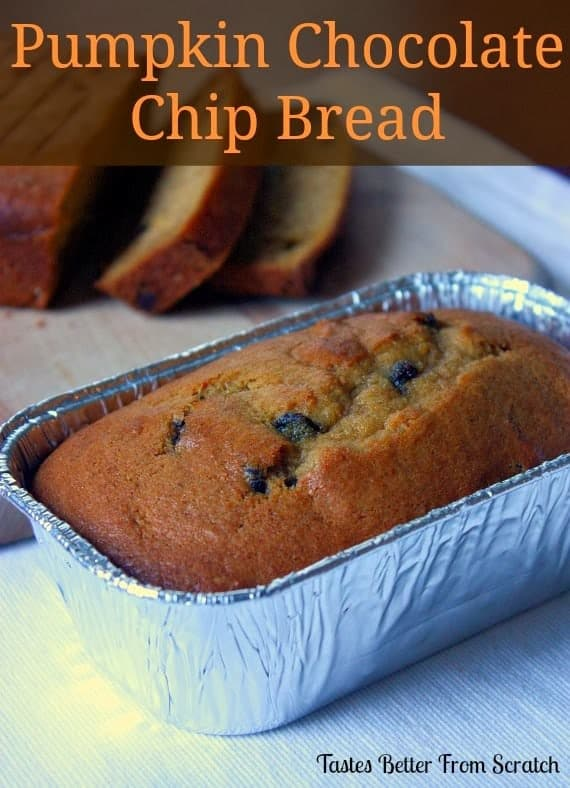 Pumpkin Chocolate Chip Bread - Tastes Better From Scratch