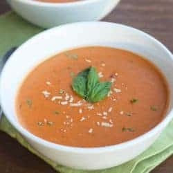 Creamy Tomato, Basil, Parmesan Soup