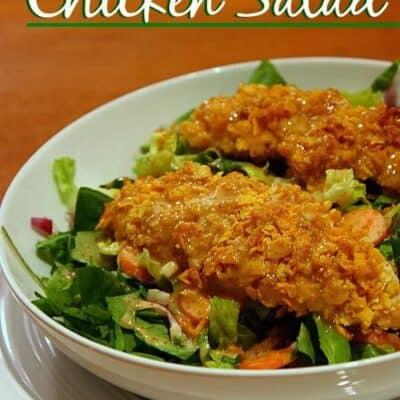 Crusted Honey Mustard Chicken Salad
