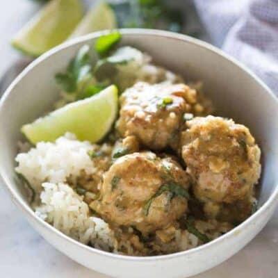 Thai Green Curry Meatballs