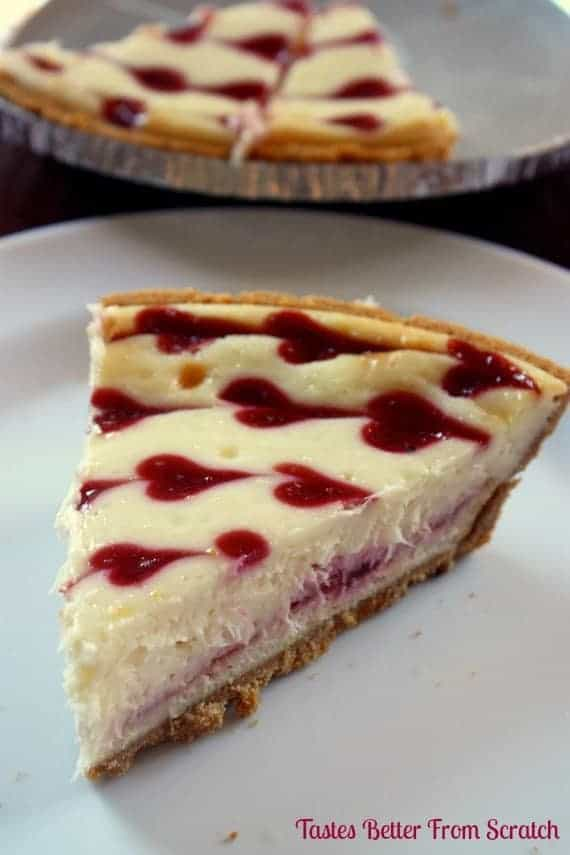 White Chocolate Raspberry Cheesecake - Tastes Better From Scratch