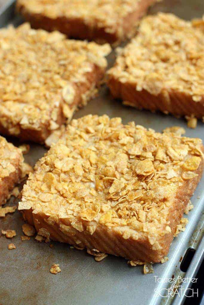 Crunchy French Toast recipe on TastesBetterFromScratch.com