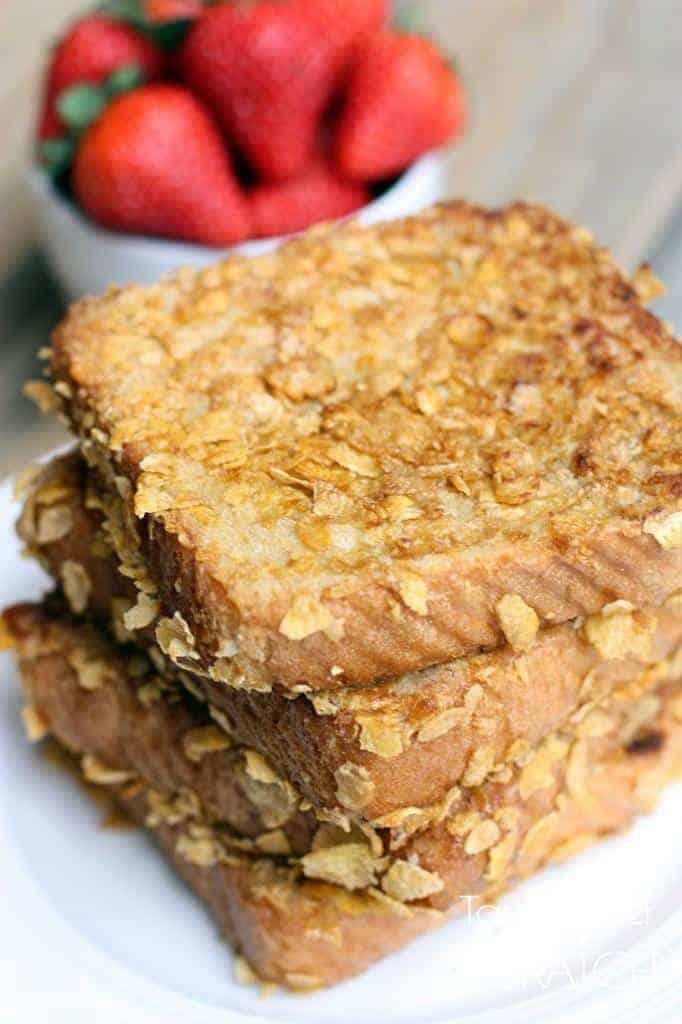 Crunchy French Toast recipe on TastesBetterFromScratch.com