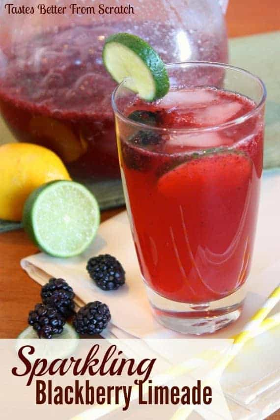Sparkling Blackberry Limeade - Tastes Better From Scratch
