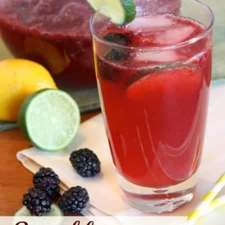 Sparkling Blackberry Limeade