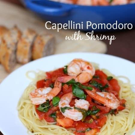 Capellini Pomodoro with Shrimp