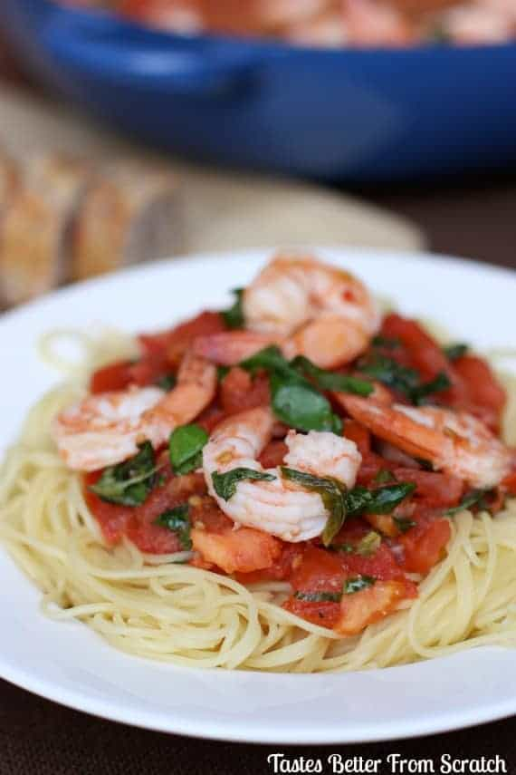 Capellini Pomodoro With Shrimp Tastes Better From Scratch