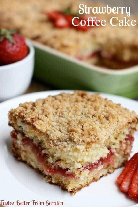 Strawberry Coffee Cake - TastesBetterFromScratch.com