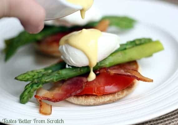 Eggs Benedict with Asparagus recipe from TastesBetterFromScratch.com