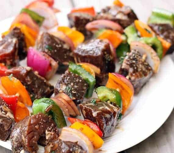 Marinated Steak Kebabs