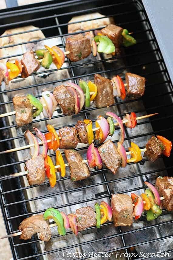 Marinated Steak Kebabs from TastesBetterFromScratch.com