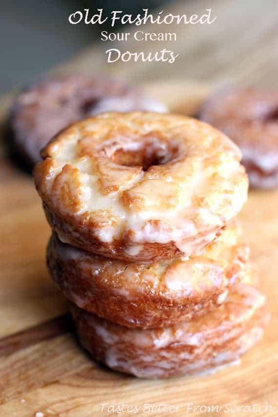 Old Fashioned Sour Cream Donuts from TastesBetterFromScratch.com