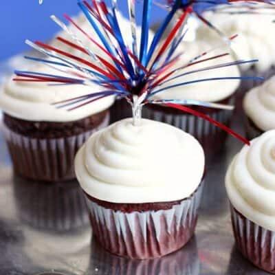 Red Velvet Firecracker Cupcakes