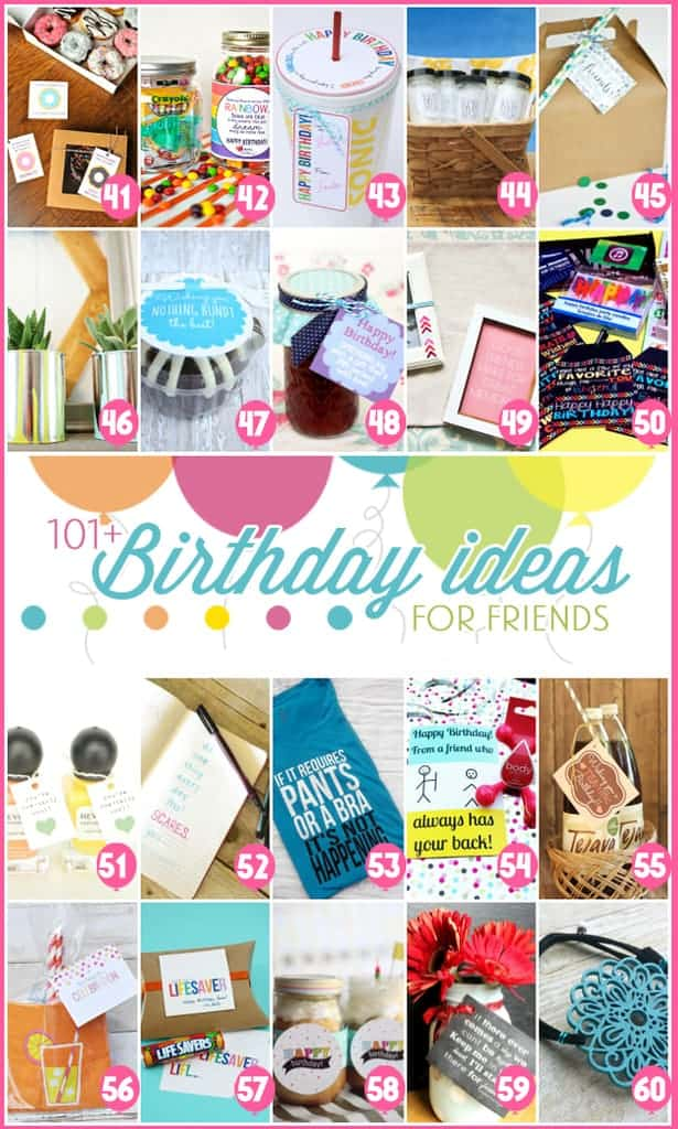 101 Birthday Ideas for Friends