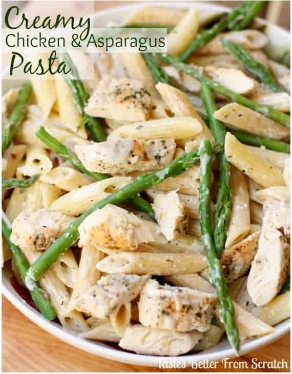 Creamy Chicken and Asparagus Pasta - Tastes Better From Scratch