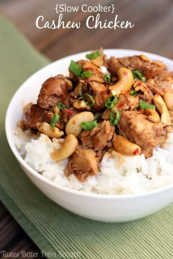 Slow Cooker Cashew Chicken recipe from TastesBetterFromScratch.com