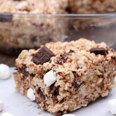 Chocolate Marshmallow Chunk Rice Krispie Treats