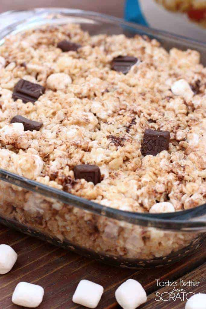 Chocolate Marshmallow Chunk Rice Krispie Treats