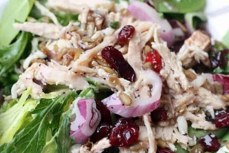 Kneaders Turkey Cranberry Salad easy copycat recipe from TastesBetterFromScratch.com