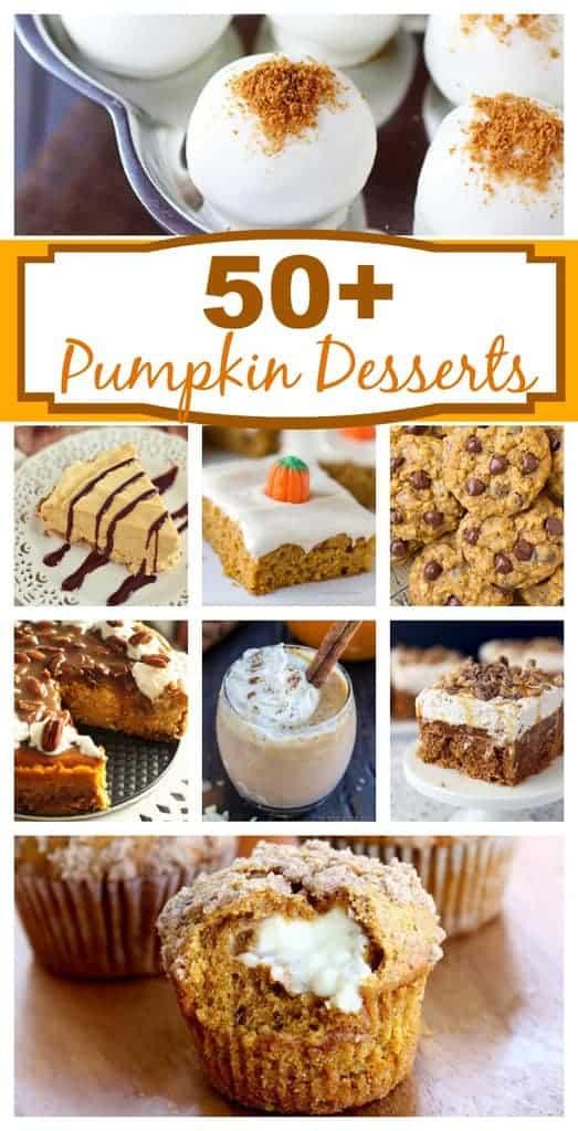 50+ Amazing Pumpkin Desserts! http://tastesbetterfromscratch.com