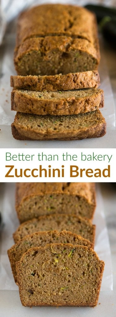 Your search for the BEST, moist and delicious Zucchini Bread recipe ends here! My Mom's tried and tested zucchini bread has the perfect blend of spices, tender crumb and amazing flavor. This easy recipe can also be adapted to make healthy zucchini bread.  #easy #moist #best #recipe #zucchini #quickbread #bread