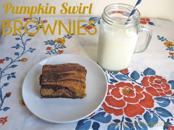Pumpkin Swirl Brownies from Pretty Providence