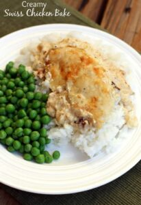 Creamy Swiss Chicken Bake recipe on TastesBetterFromScratch.com