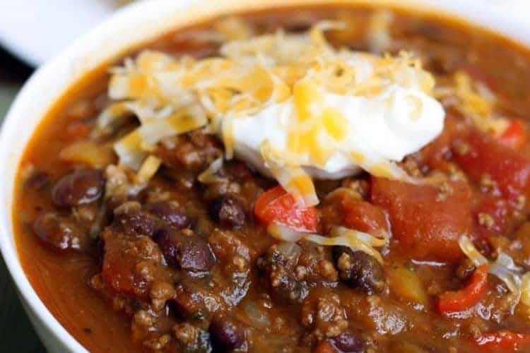 Pumpkin and Black Bean Chili recipe from TastesBetterFromScratch.com