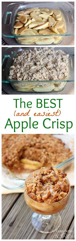 Easy apple crumble recipe for 6