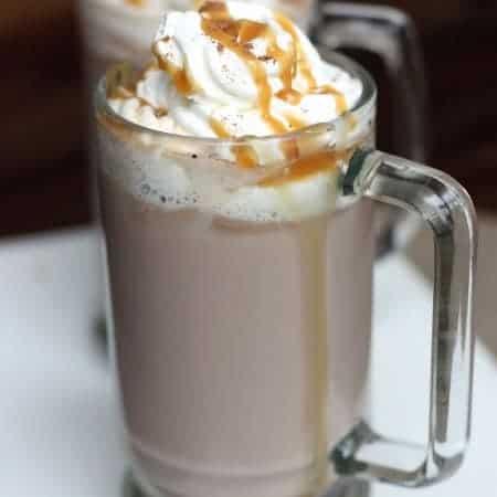 Caramel Hot Chocolate recipe on TastesBetterFromScratch.com