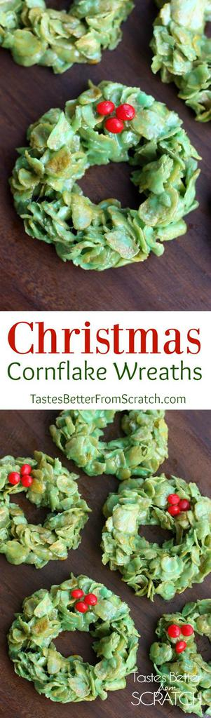Christmas Cornflake Wreaths  Tastes Better From Scratch