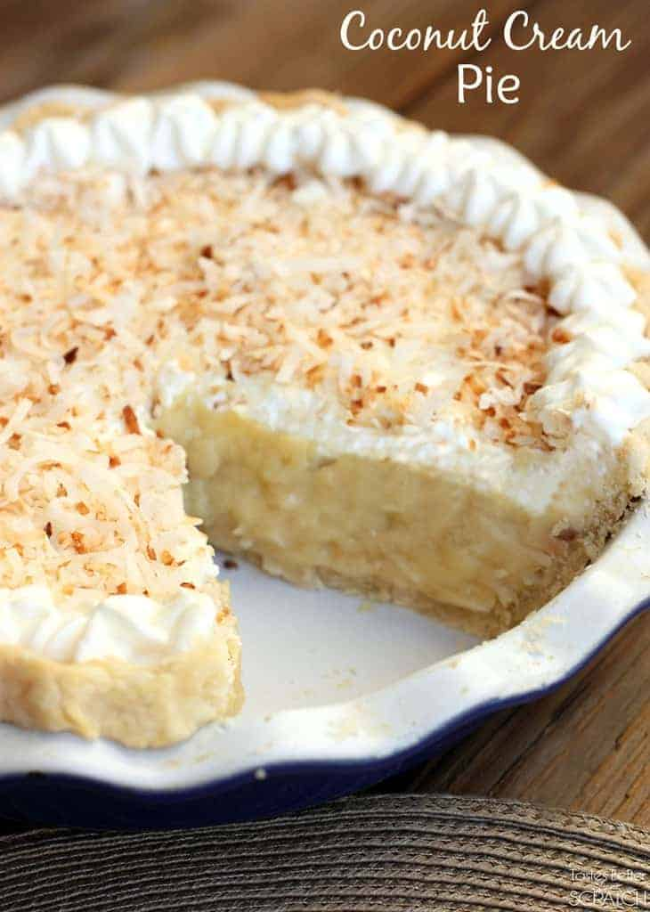 Coconut Cream Pie recipe on TastesBetterFromScratch.com