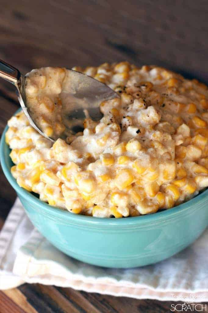 Slow Cooker Creamed Corn recipe from TastesBetterFromScratch.com ...