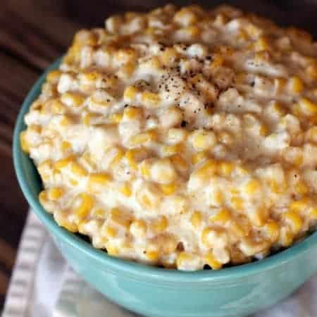 Slow Cooker Creamed Corn recipe from TastesBetterFromScratch.com